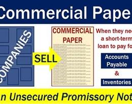 commercial paper的图片释义。 如果您认为该图片不合适,可以上传新图片来帮助我们改进